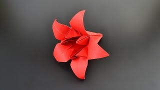 Origami: Pentagonal Lily Flower / Iris - Instructions in English (BR)