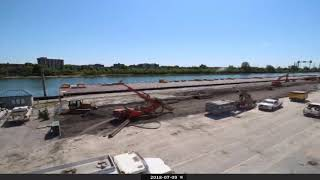 Circuit Gilles-Villeneuve's demolition and construction of new Paddocks (TIMELAPSE)