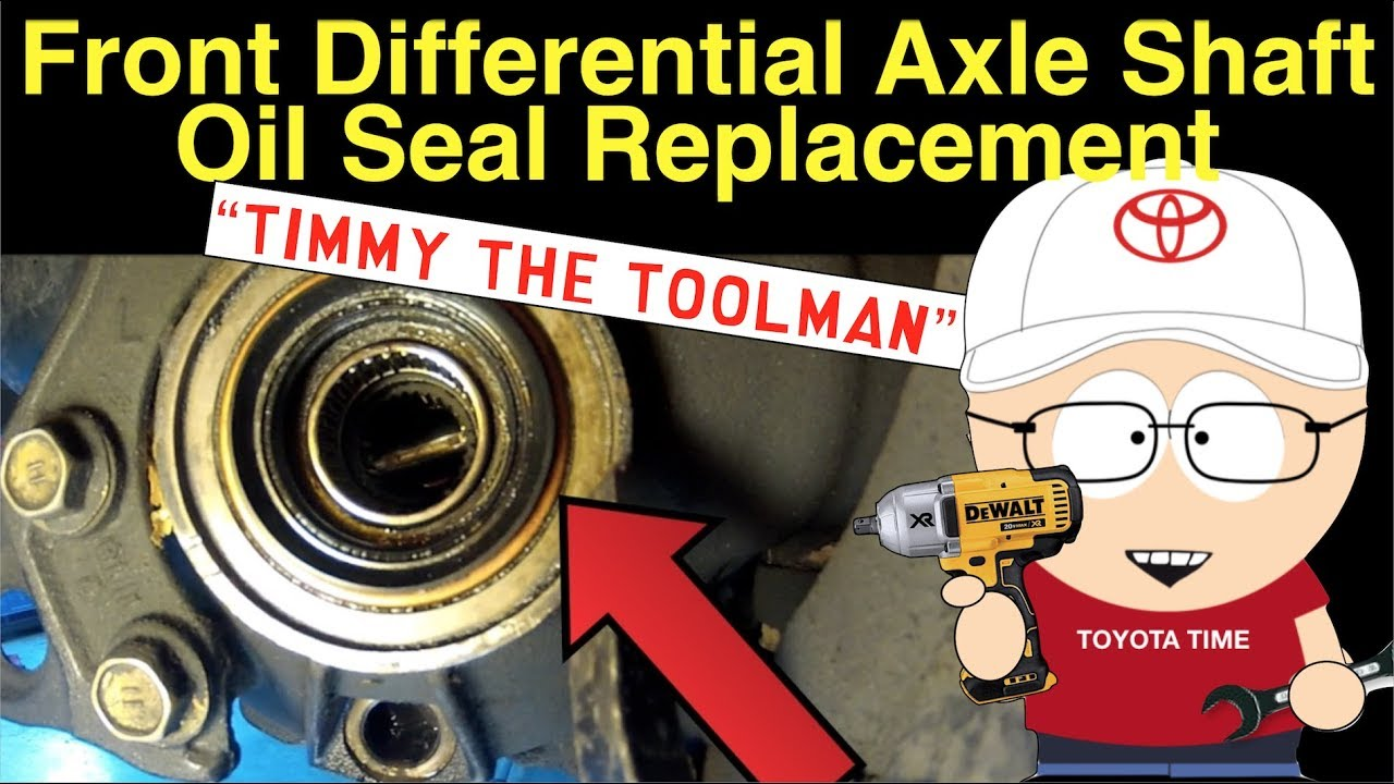hight resolution of front differential axle shaft oil seal replacement