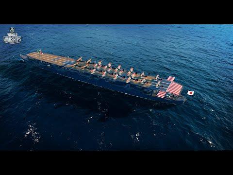 Как играть на авианосце Hosho - World Of Warships (WOWS) - самый лучший бой