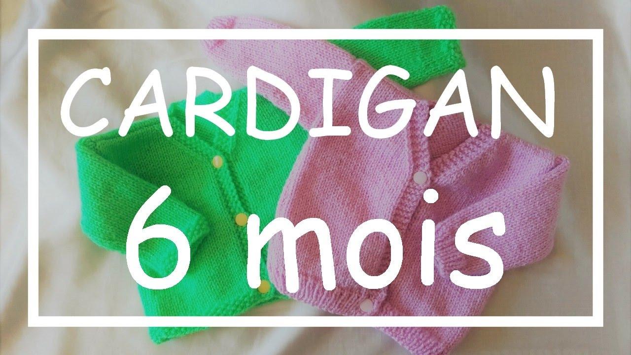 Tricot Facile Tuto Cardigan 6 Mois Debutant Layette Easy