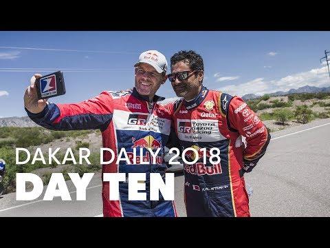 Day 10: Van Beveren Wins Stage Ahead of Benavides, Al-Attiyah Trails Sainz | Dakar Daily 2018