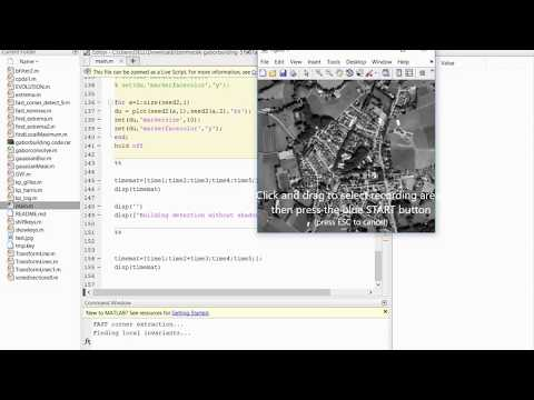 Urban region and building detection using gabor features and probability in MATLAB