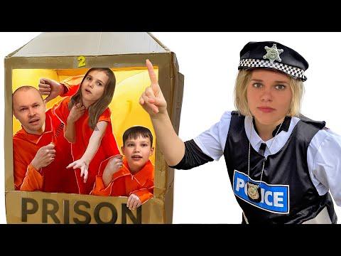 Побег из картонной тюрьмы от Макс и Катя