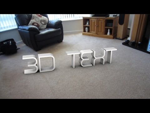Motion Tracking Tutorial | 3D Text | Boujou & Cinema 4D