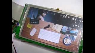 """TMS320F28335 - SSD1963 7"""" TFT LCD Test with SD Card"""