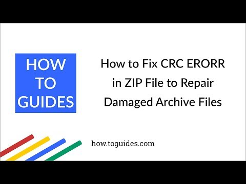 How to Fix CRC ERROR in ZIP File to Repair Damaged Archive Files