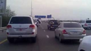 Dubai Shaikh Zayed Road 2 wheel driving stunt drivers arrested