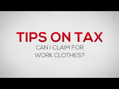 Can I claim for work clothes as self-employed? Tips on Tax