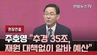 """[현장연결] 주호영 """"추경 35조, 재원 대책…"""
