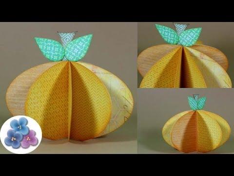 Diy calabazas de papel paper pumpkin manualidades - Calabazas para halloween manualidades ...
