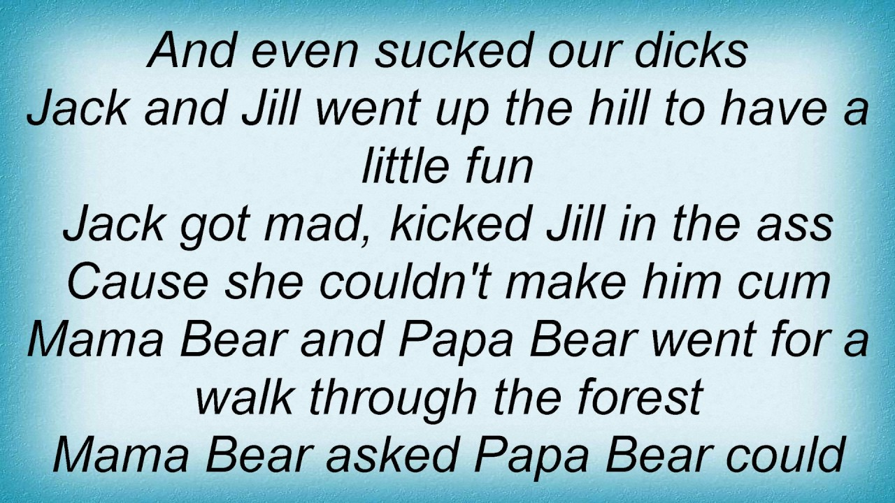 Dirty Nursery Rhymes Lyrics You
