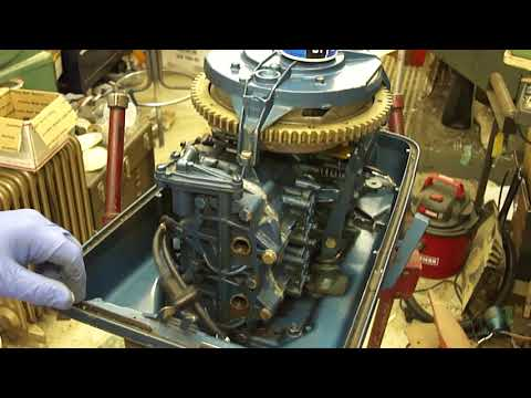 Repeat 1959 Gale Sea King 12hp Outboard Motor Pond Test by Old