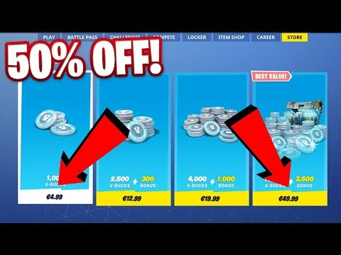 NEW 50% OFF ANY VBUCKS BUNDLE METHOD IN FORTNITE SEASON 9!