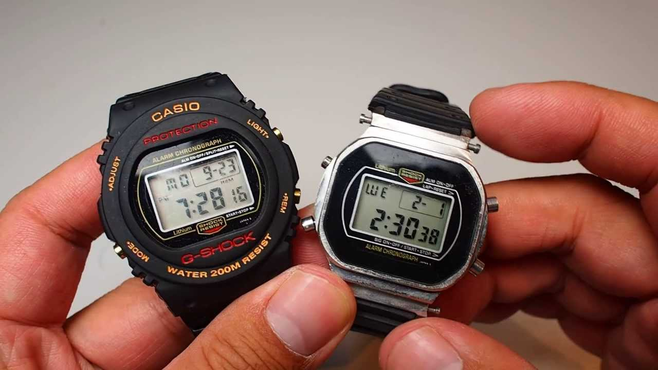 Casio Classic VINTAGE 1980 s G Shock watch DW-5700 and DW-5400 compare -  YouTube 43d91453a5dd
