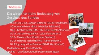 Podiumsdiskussion: Wirtschaftliche Bedeutung von Services des Bundes