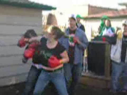 chicks backyard boxing at chicago s side parade party youtube