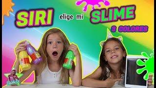 SIRI DECIDE MI SLIME DE 3 COLORES!! RULETA DE SLIME CON SIRI!! Daniela Go