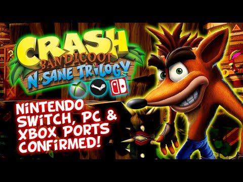 Crash Bandicoot N. Sane Trilogy - Switch, PC & Xbox Ports CONFIRMED! Toys For Bob + Iron Galaxy Team