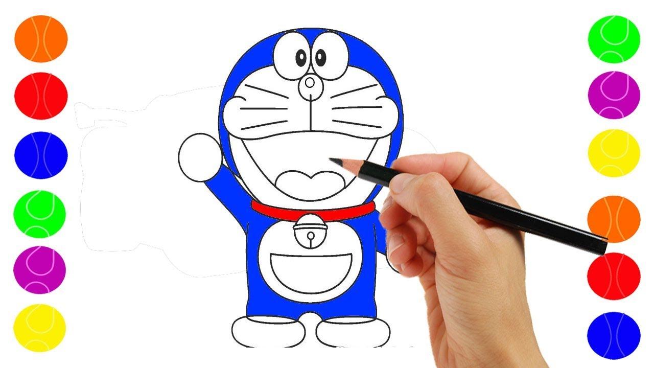 Doraemon Belajar Menggambar Dan Mewarnai Doreaemon Coloring For