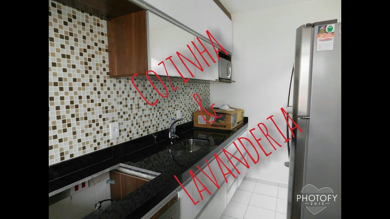 Tour pela Cozinha e Lavanderia Apartamento pequeno   #AB2026 1800 1350