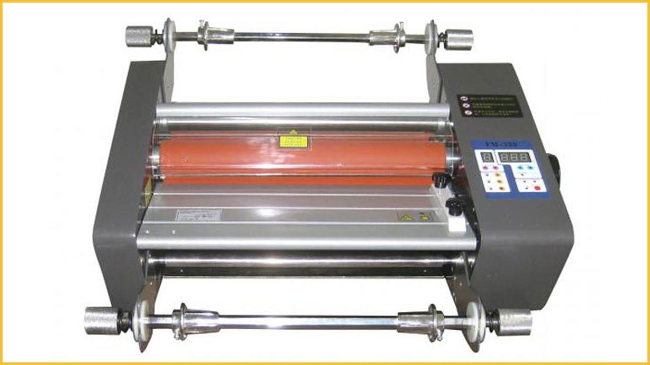 A4 hot laminating machine hot press melamine laminating machine 380 hot  roll laminating machine