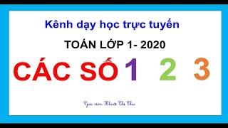 Toán lớp 1 mới 2020| CÁC SỐ 1,2,3 | Viết các số 1,2,3
