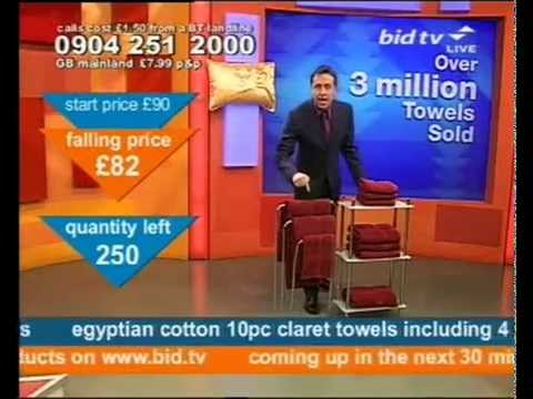 Andy Hodgson has good fun selling Claret towels on Bid TV