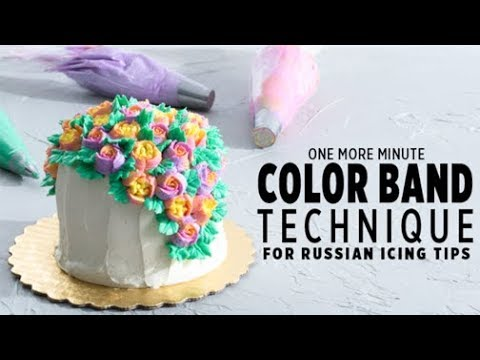 One More Minute: Color Band Icing Technique