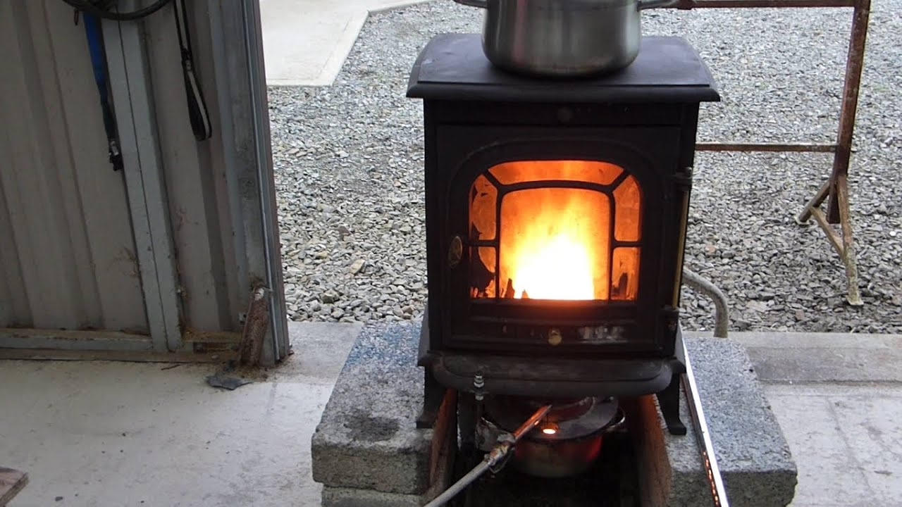 make a great waste oil burning stove heater youtube