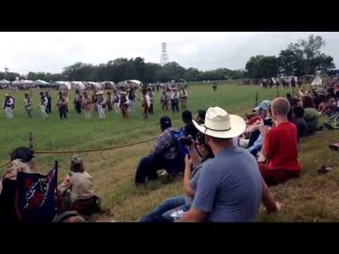 San Jacinto Monument battle reenactment 2014