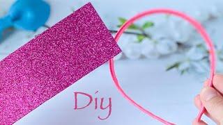 Взяла кусочек глиттерного фоамирана и за 5 мин сделала красивый ободок! DIY Glitter Eva Foam Craft