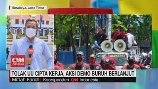 Tolak RUU Ciptaker, Aksi Demo Buruh di Bekasi dan Surabaya Berlanjut