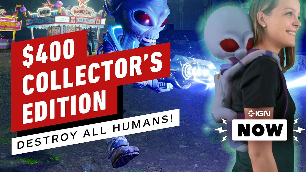 Zerstöre alle Menschen! $ 400 Edition kommt mit Alien Backpack - IGN Now + video
