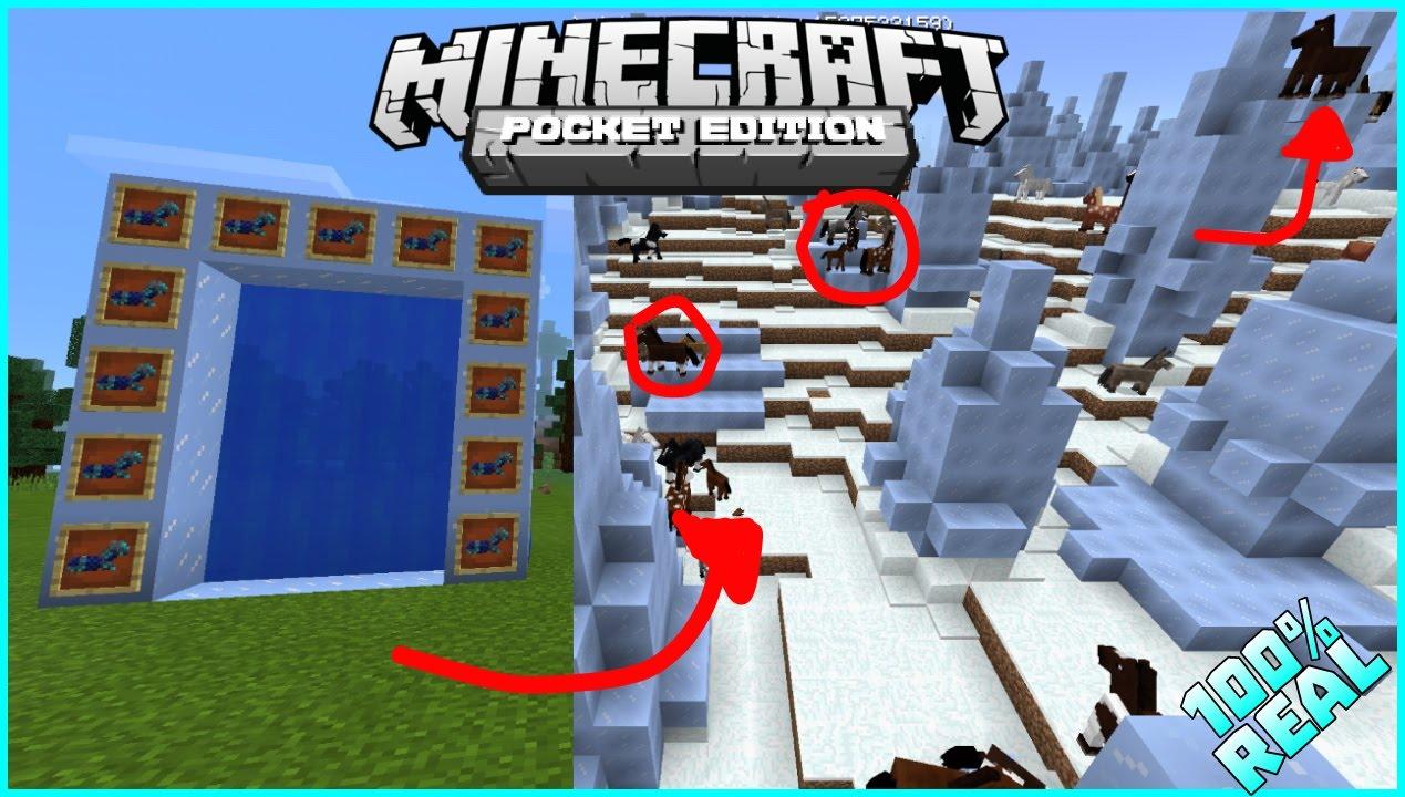Como entrar a la dimensi n del caballo en minecraft pe 0 - Decoraciones para minecraft sin mods ...