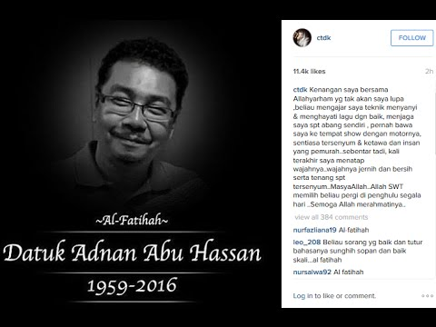 Siti Nurhaliza - Adnan Abu Hassan Komposer Jerat Percintaan Meninggal Dunia | Jumaat 18.03.2016