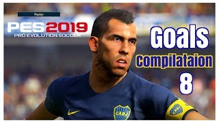 Pes 2019 -Realistic Gameplay - Goals Skills & Saves #8 - PS4 - HD