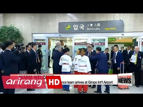 N. Korean Taekwondo team given warm welcome in first inter-Korean exchange of Moon-presidency