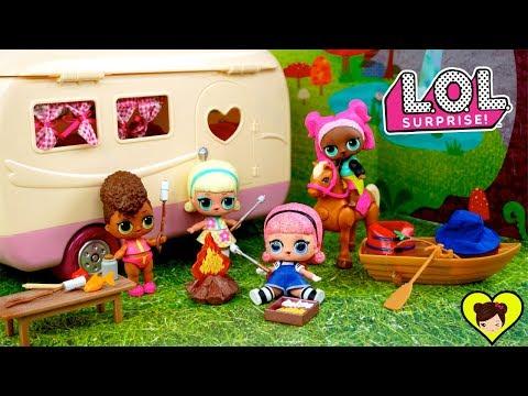 Muñecas Lol Confetti Van De Campamento En El Camper De Juguete как