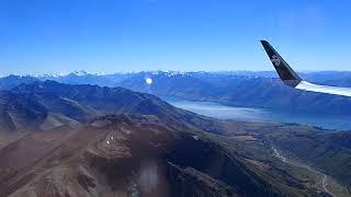 Beautiful landing at Queenstown airport. ニュージーランド 絶景 クイーンズタウン空港着陸 thumbnail