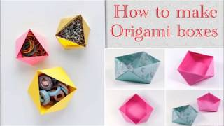 Origami Box || Easy and Creative Summer camp activities for kids 2019 | DIY Fun Ideas| Part-2