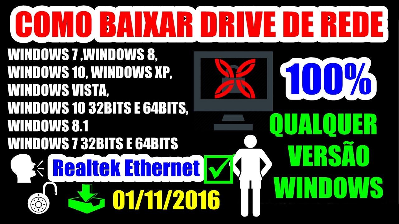 driver de rede realtek windows 7 baixaki