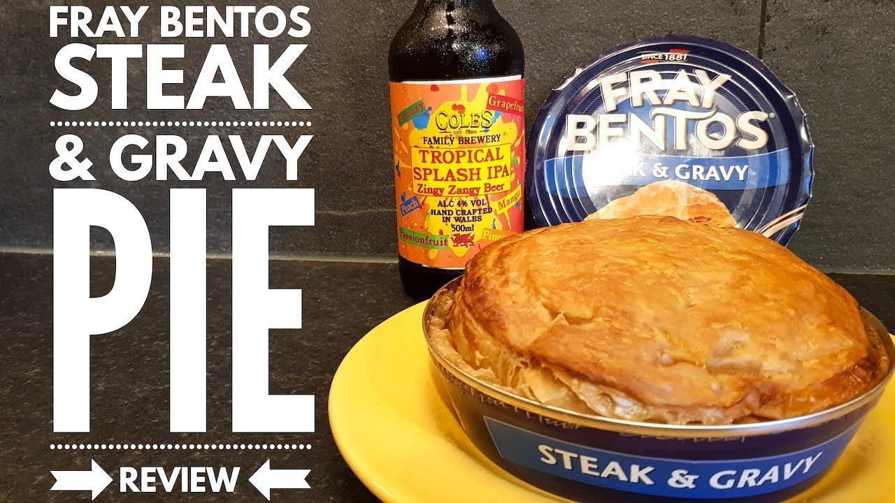 Fray Bentos Steak & Gravy Pie & Beer Review - YouTube