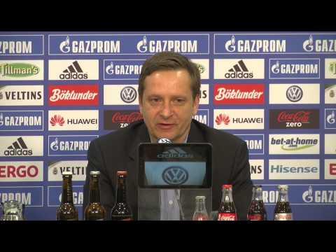 Schalke-Pressekonferenz zum Spiel gegen den VfL Wolfsburg