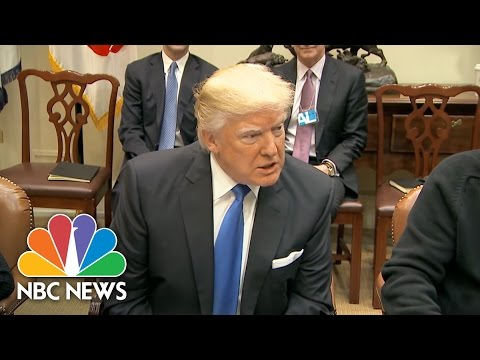 President Trump Meets With Auto Industry Leaders To Talk Jobs, Manufacturing | NBC News
