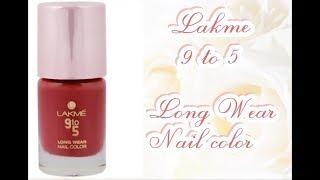 Lakme 9-5 Long Wear Nail Color