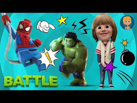 Spiderman Cartoon TOYS GAMES FOR KIDS – Spider-man HULK vs ULTRON LEGO Super Heroes BATTLE
