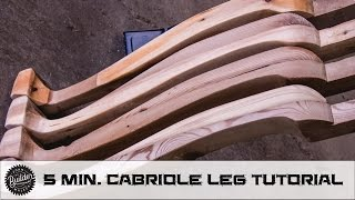 Woodworking Curved Cabriole Style Dining Table Leg Walkthrough