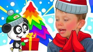 Наряжаем Елку с Биби и Яном - История Про Деда Мороза - Влог Для Детей