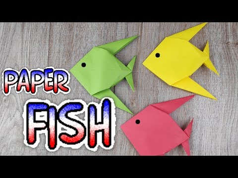 DIY Origami Animal Paper Toy | How To Make an Easy Origami Fish Tutorial | Handmade - Craft Kids